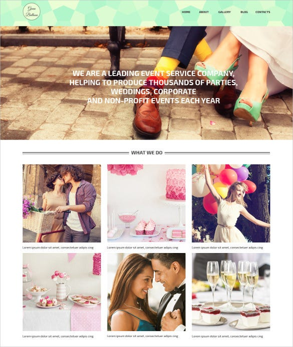 memorable events planner vintage wordpress theme