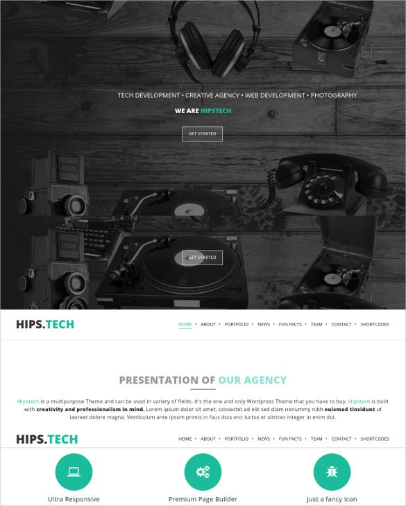 hipstech classical business theme