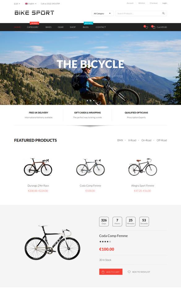 wordpress theme for bicycle sports club