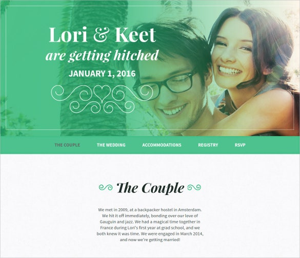 ovebird one page wedding html5 template
