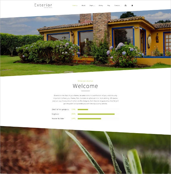 exterior design studio joomla blog template