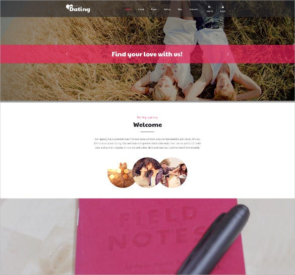 dating responsive joomla blog template