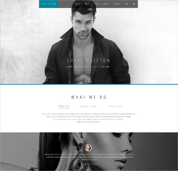 high fashion joomla blog template