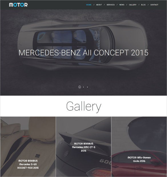 car responsive moto cms 3 blog template