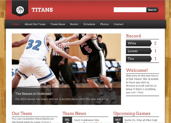 basket ball sports club wordpresstheme