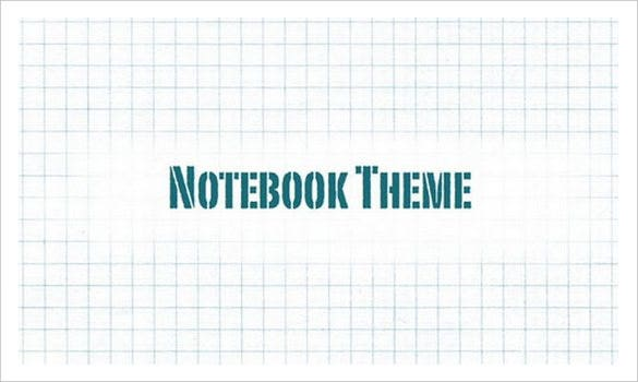free notebook keynote template download