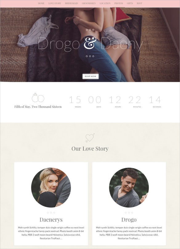 better half responsive wedding html bloig template