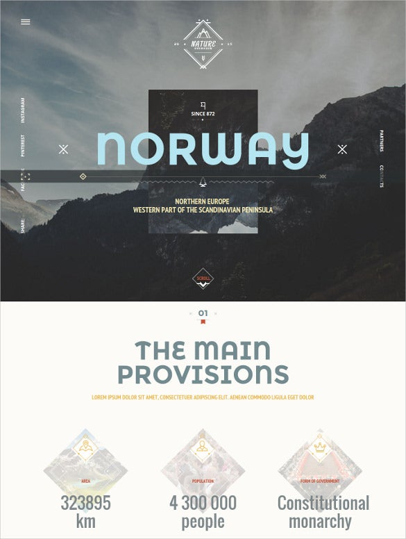 norwaytheme nature travel blog template