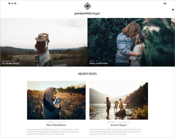responsive portfolio blog website template