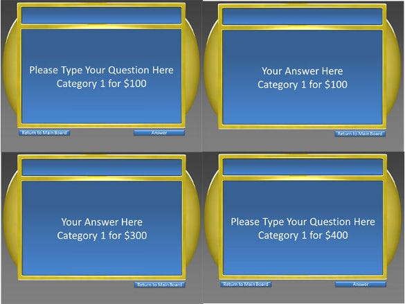 6 category question jeopardy keynote template