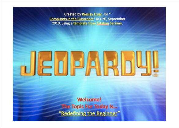 Jeopardy Template Keynote – 6+ Free Ppt Documents Download! | Free