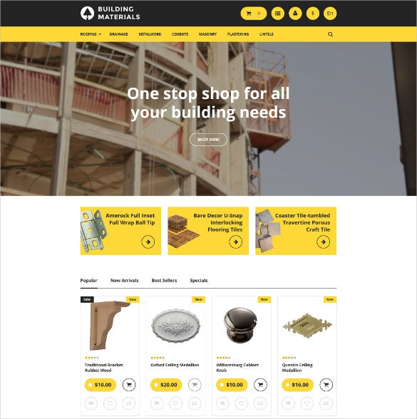 building materials prestashop ecommerce theme