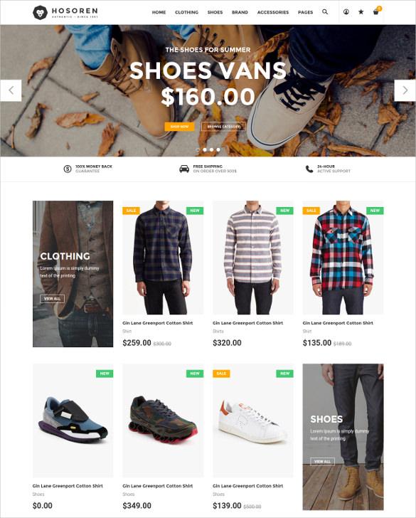 hosoren responsive shopify ecommerce theme