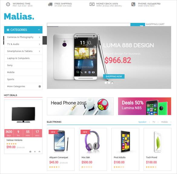 malias responsive opencart ecommerce theme
