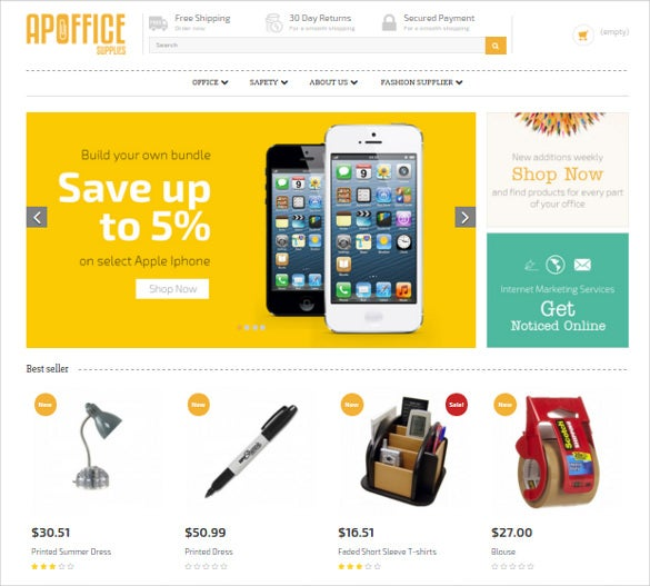 ap office prestashop ecommerce theme