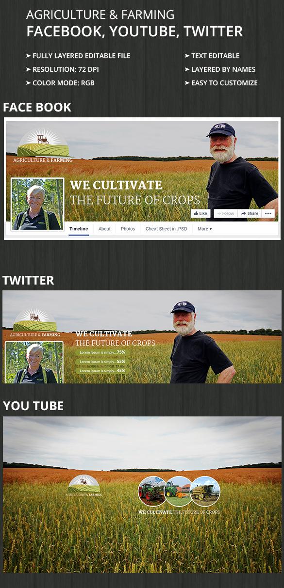 AgricultureFarming_SocialcoverPages