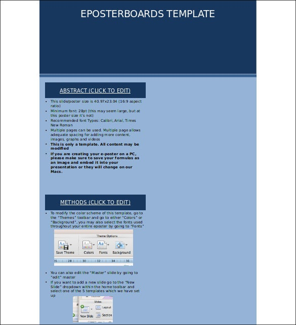 Free poster template ppt