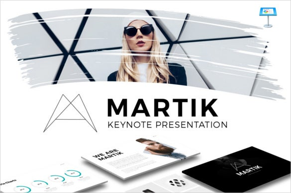 martik keynote presentation template key design