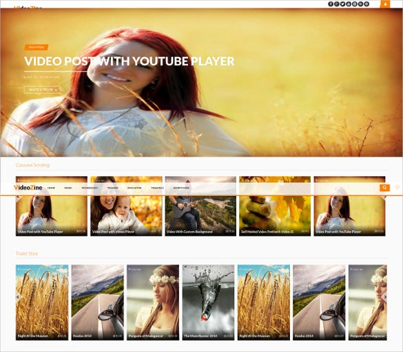 premium f ully responsive youtube wordpress theme