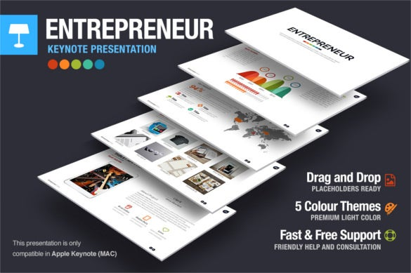 entrepreneur keynote template presentation download