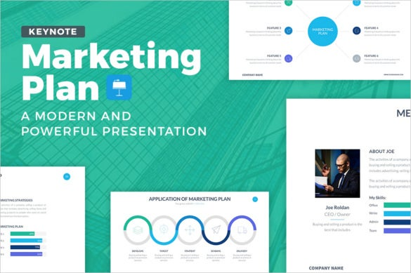 marketing plan keynote template download