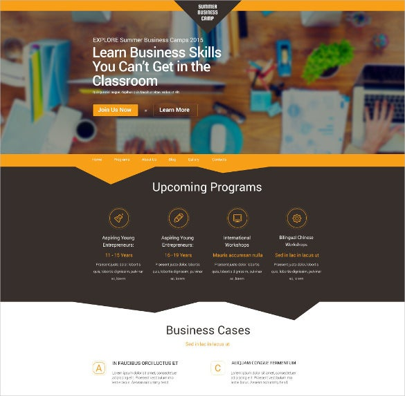 superb business orange wordpress theme