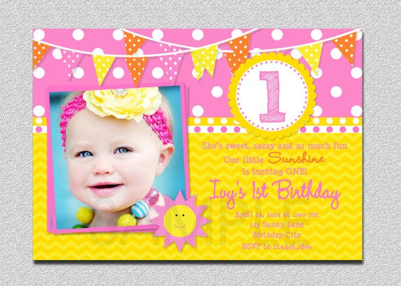 baby boy first birthday party invitation