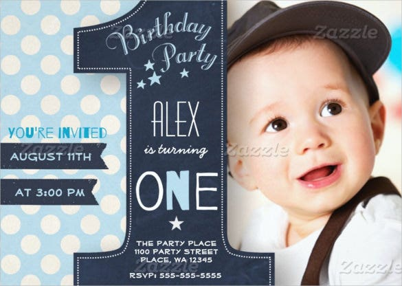 first birthday party invitation for boy
