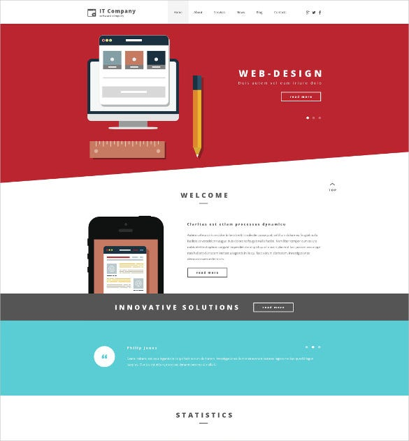 Free wordpress templates for web design company
