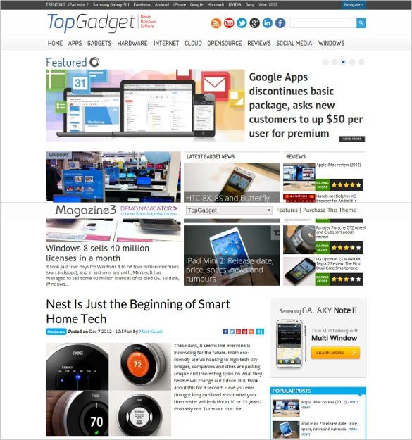 topgadget technology blogging theme 59