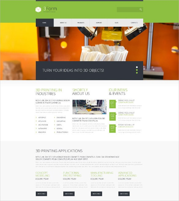 3d printing technologies wordpress theme 49