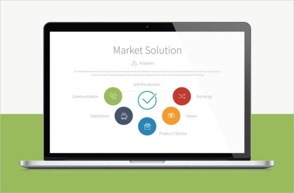 fantastic professionla market solution keynote template