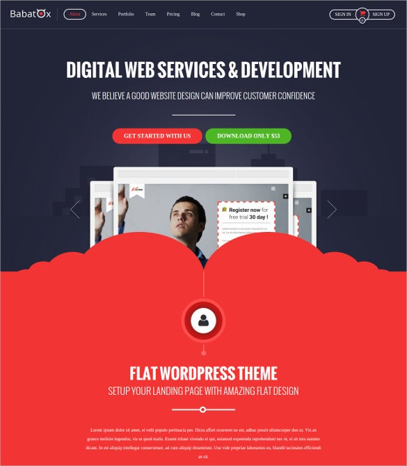 babatox tech blog landing page wp theme 59