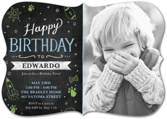 childhood chill birthday party invitation
