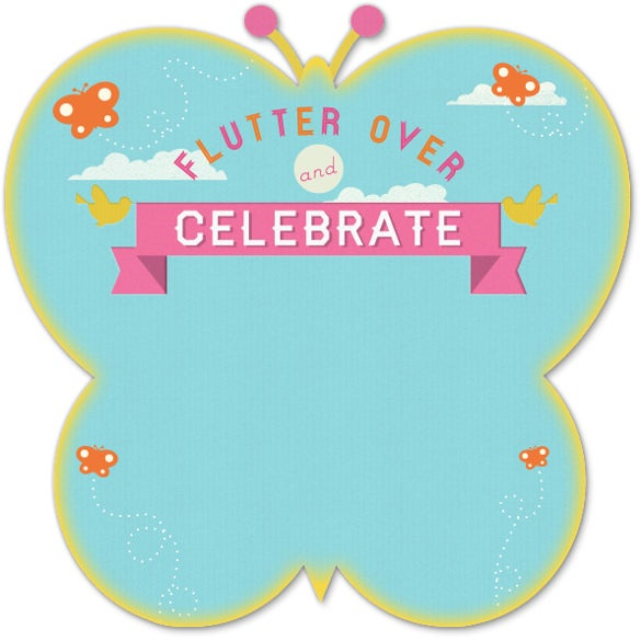 butterfly birthday party invitation