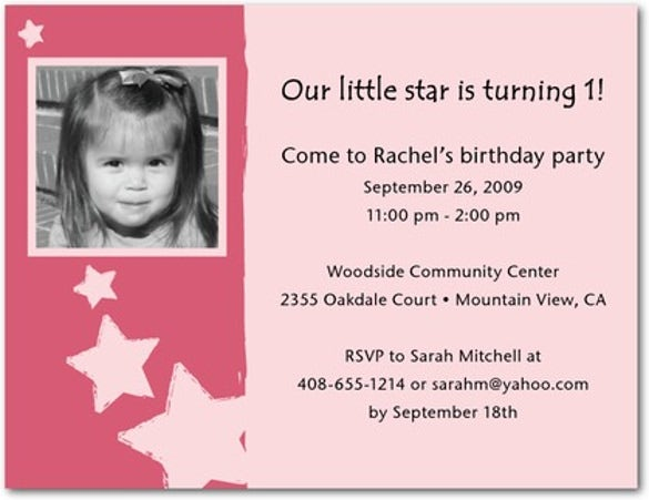first year birthday party invitation