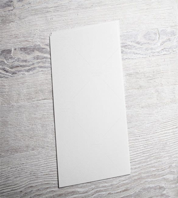 white blank paper page