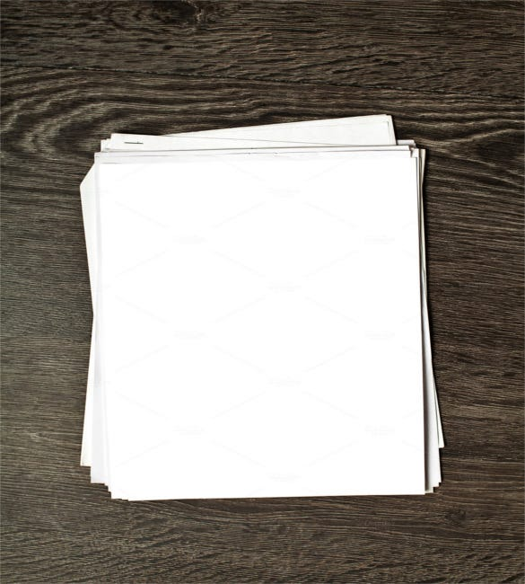 White Blank Paper On Wooden Table  Free White Paper Templates