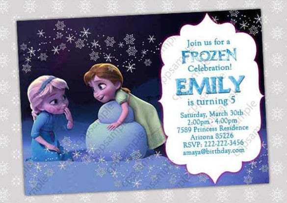 14 frozen birthday invitation free psd ai vector eps format frozen birthday party invitation stopboris Images