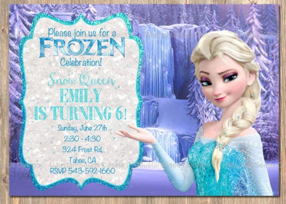 14 Frozen Birthday Invitation Free PSD AI Vector EPS Format – Party Invitations Frozen