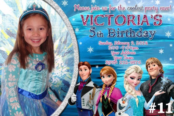14 Frozen Birthday Invitation Free PSD AI Vector EPS Format