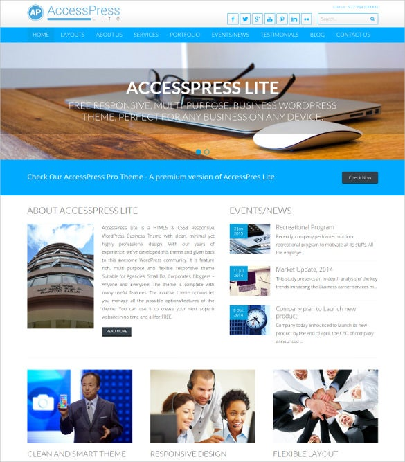 free multipurpose responsive wordpress theme