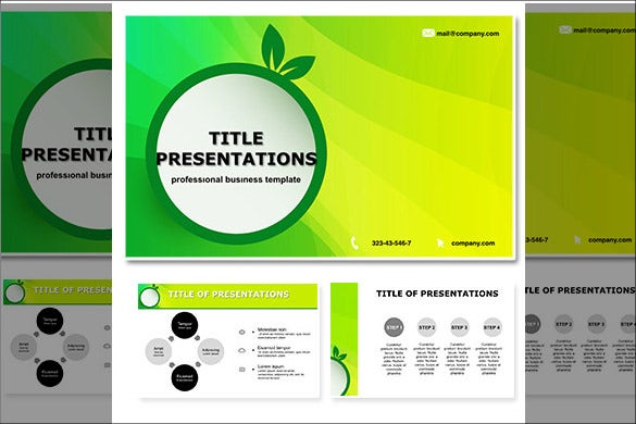 green eco lightning free keynote themes templates download