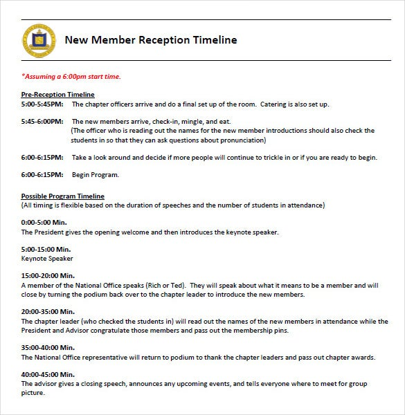 reception keynote timeline template pdf format download