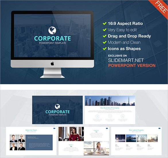 free corporate keynote powerpoint presentation template