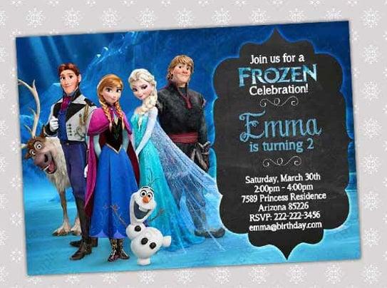frozen friday birthday party invitation