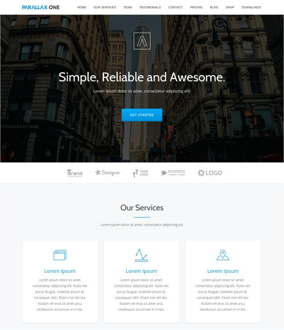 free parallax wordpress theme for business website
