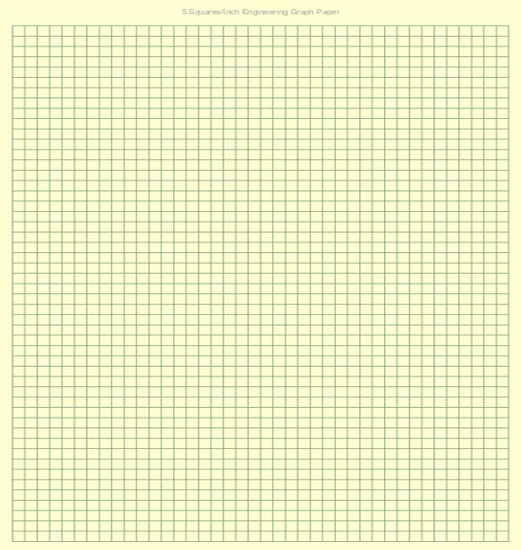 5 Squares/Inch Engineering Graph Paper  Graph Paper Word Document