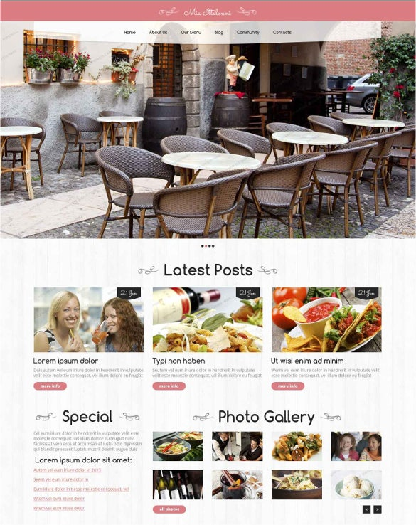 free restaurant wordpress theme download