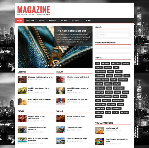 free wordpress theme for online magazines